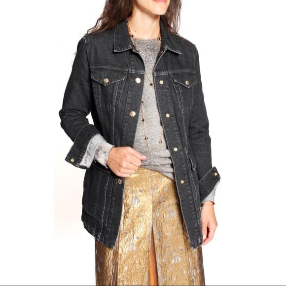 Acne Black Denim Jacket acne jackets & coats | studios gwen black denim jacket | poshmark